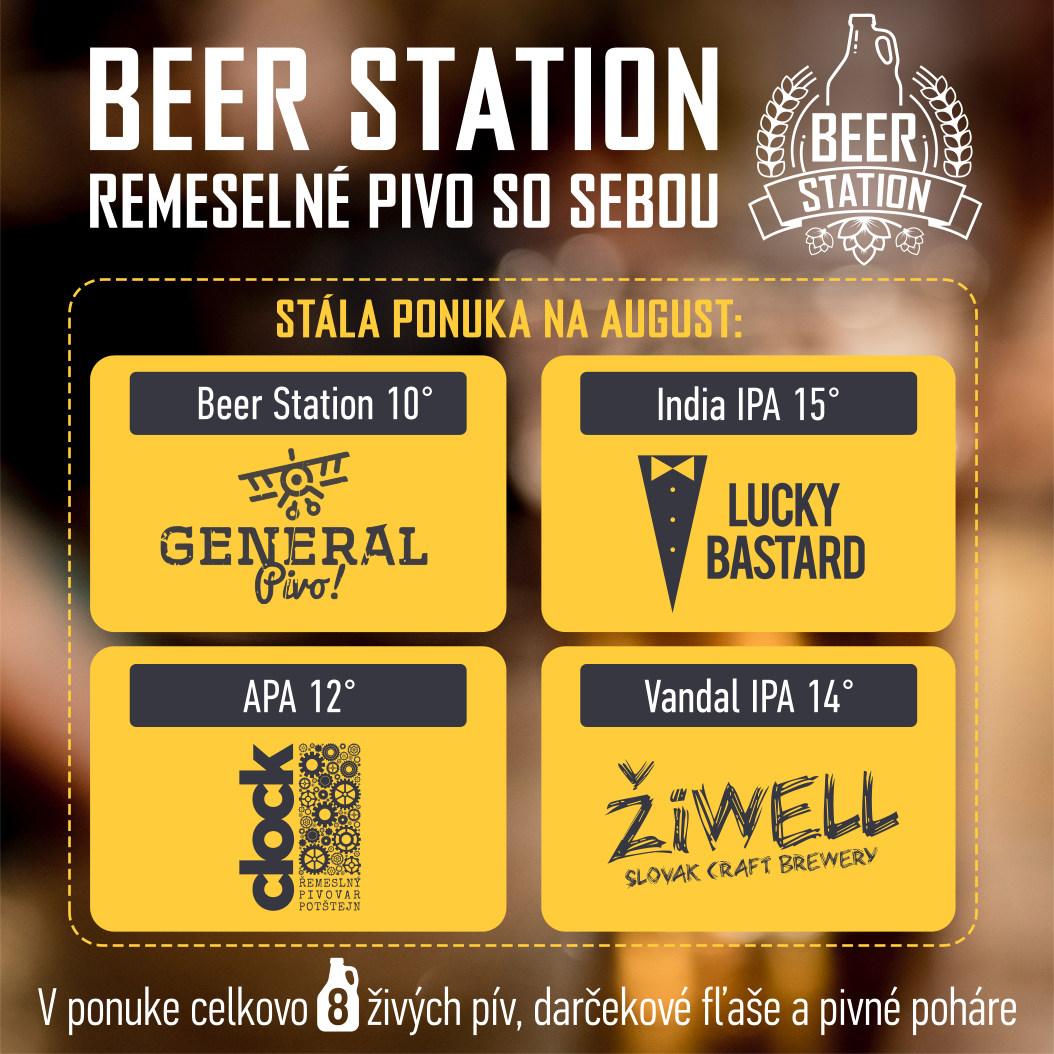 V Beer Station v Trnave od augusta stála ponuka 4 pív + výber toho najlepšieho