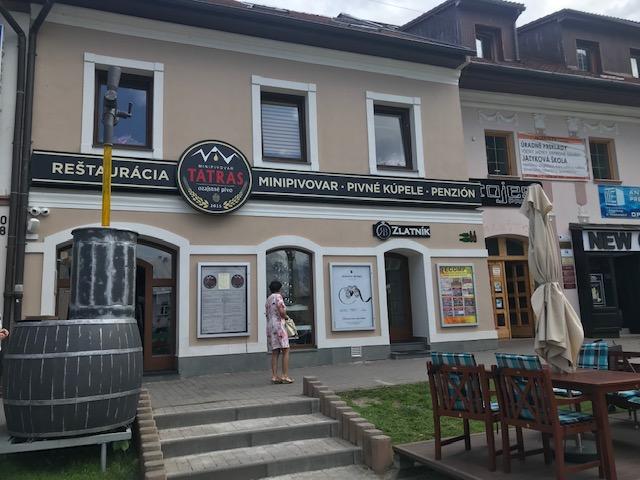 Originálny jedálny lístok, pivné kúpele a víťazné pivá v pivovare Tatras v Poprade
