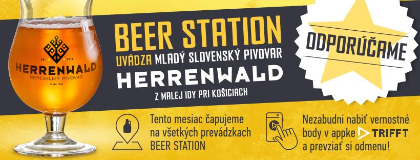 Pivovar Herrenwald sa predstaví v celej sieti Beer Station